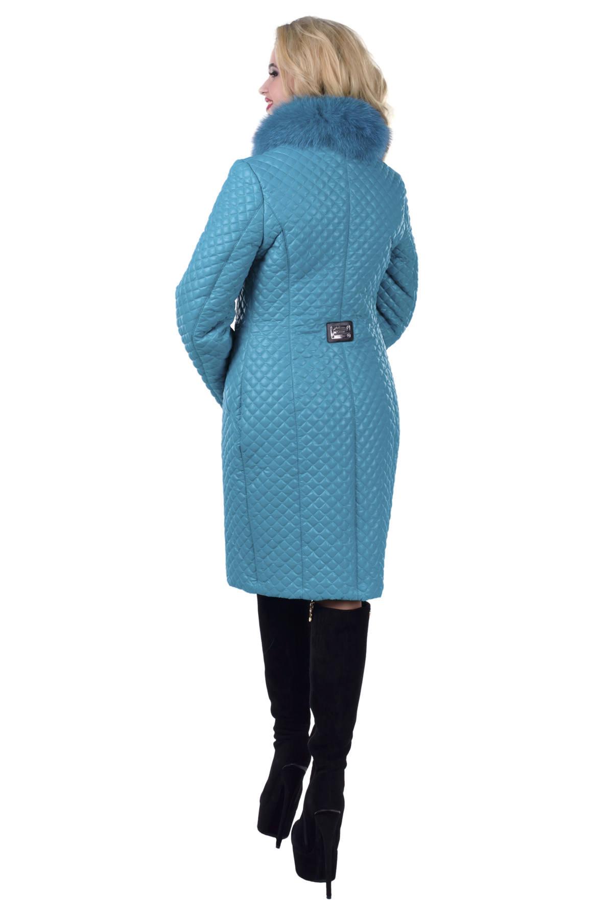 Пальто зима Андрия 0209 Цвет: Бирюза
