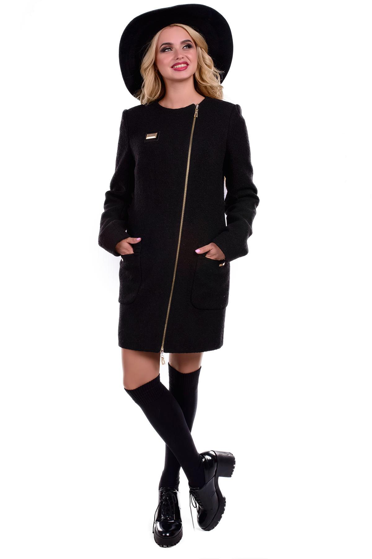 Пальто Милтон 0382  Цвет: Черный 4 баритон