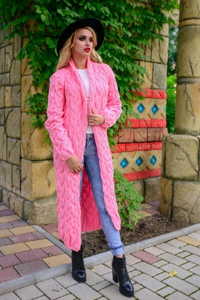 Вязаный кардиган Лало Цвет: Розовый 2535