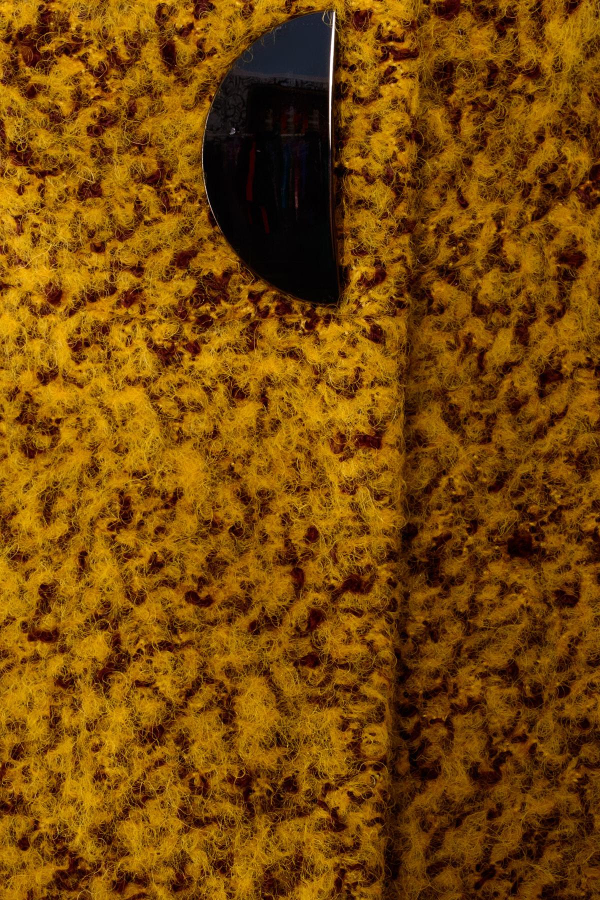 Пальто Сплит 0427 Цвет: Горчица