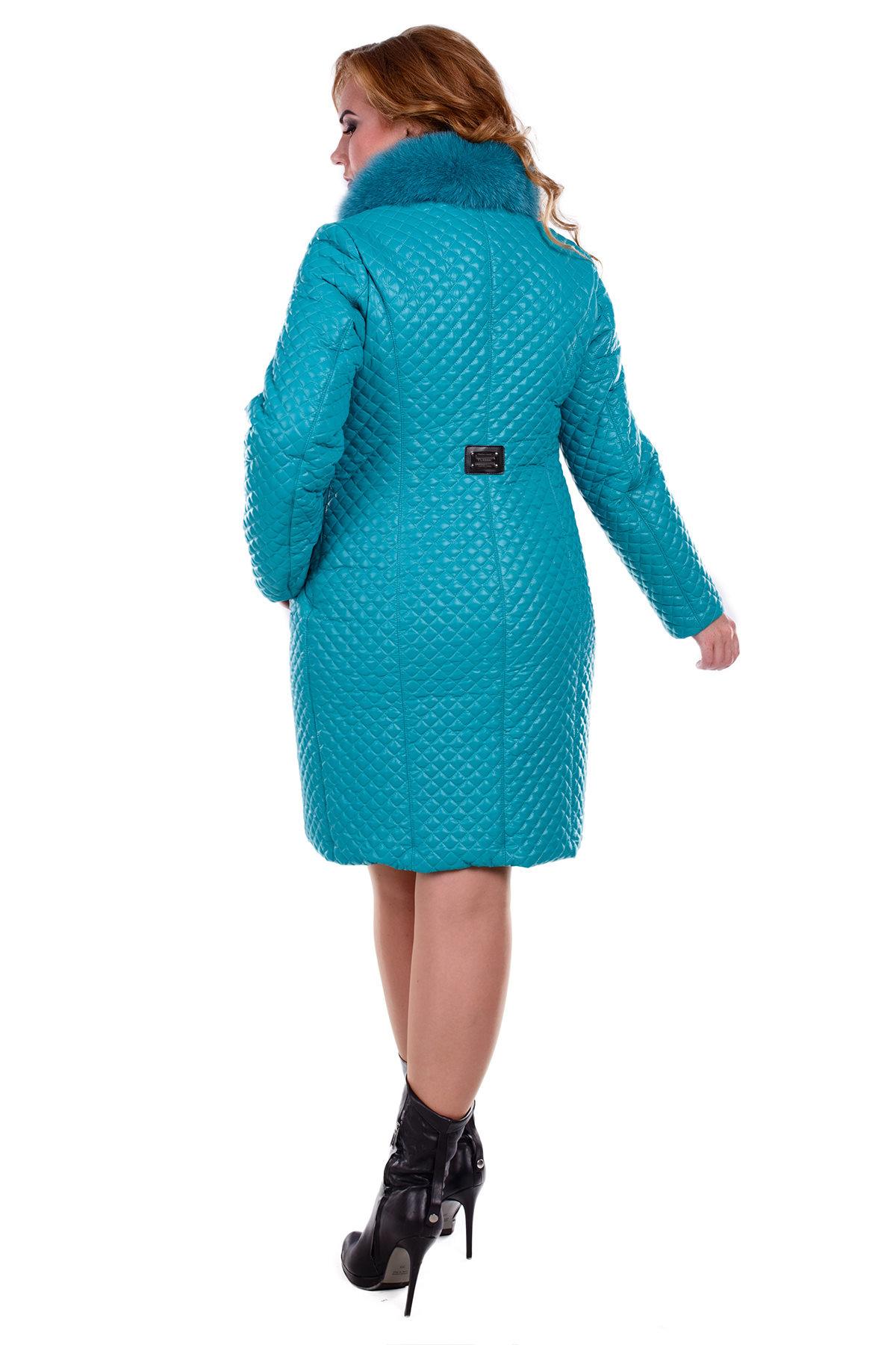 Пальто Donna зима Андрия 0317 Цвет: Бирюза