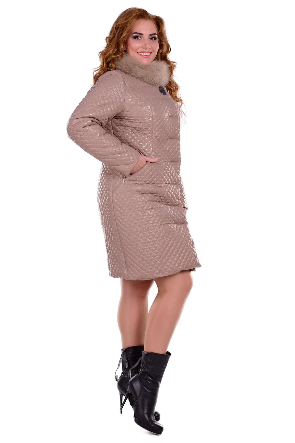 Пальто Donna зима Андрия 0317 Цвет: Бежевый 30