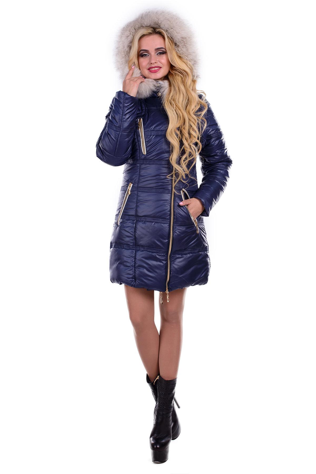 Женские куртки оптом от производителя Пальто Хлоя песец