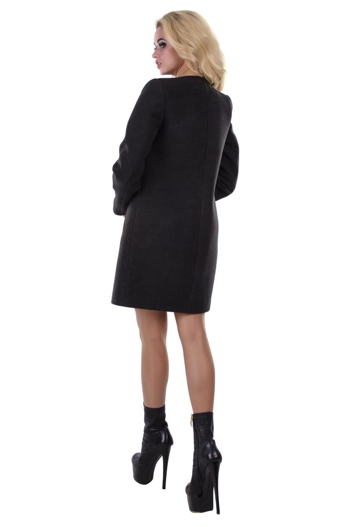 Пальто Фортуна 4812 Цвет: Тёмно-серый