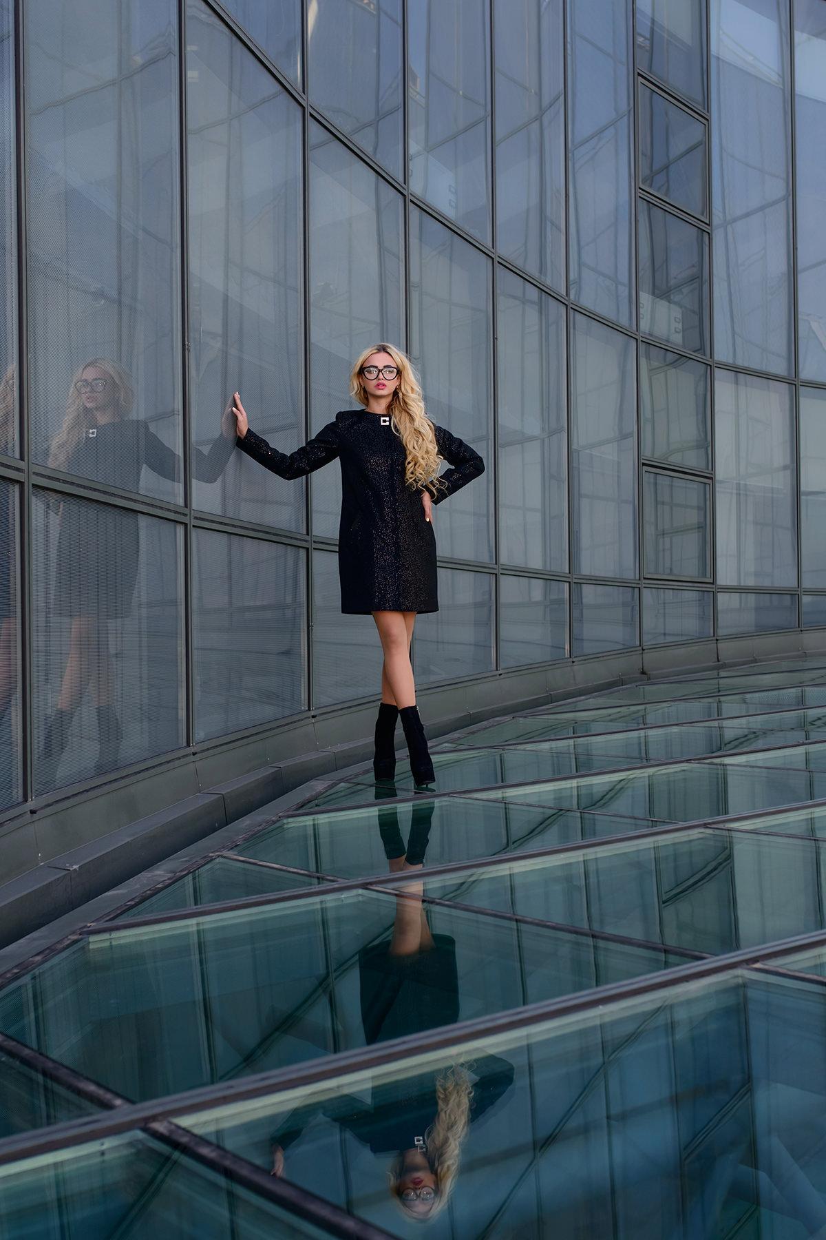 Модус женская одежда от производителя Пальто Фортуна лайт паетки