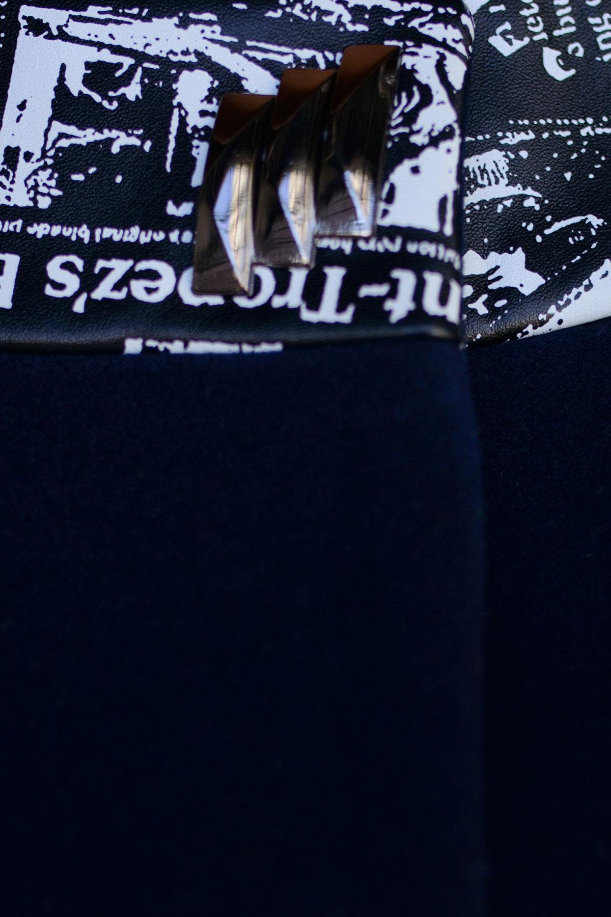 Пальто Силена 0493 Цвет: Тёмно-синий