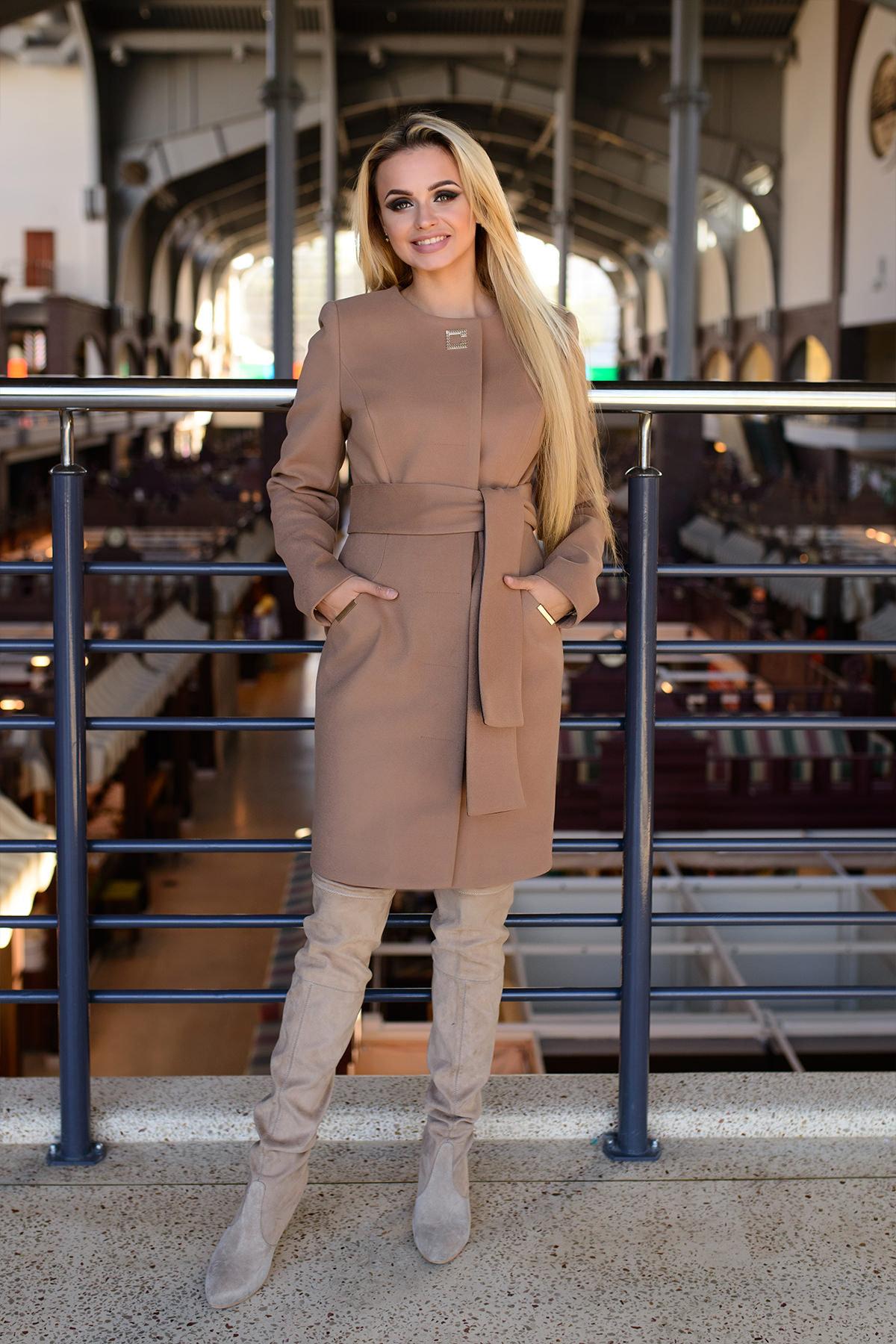 Купить кашемировое пальто оптом от производителя Пальто Луара 0536