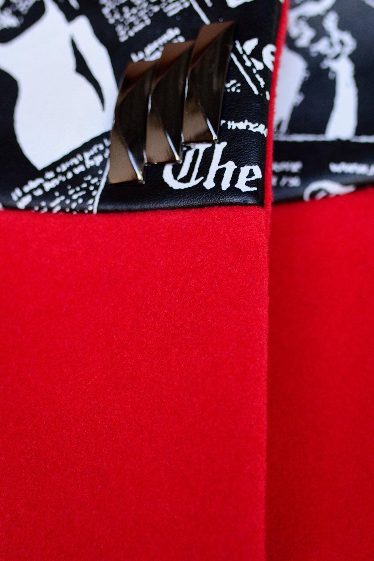 Пальто Силена 0493 Цвет: Красный