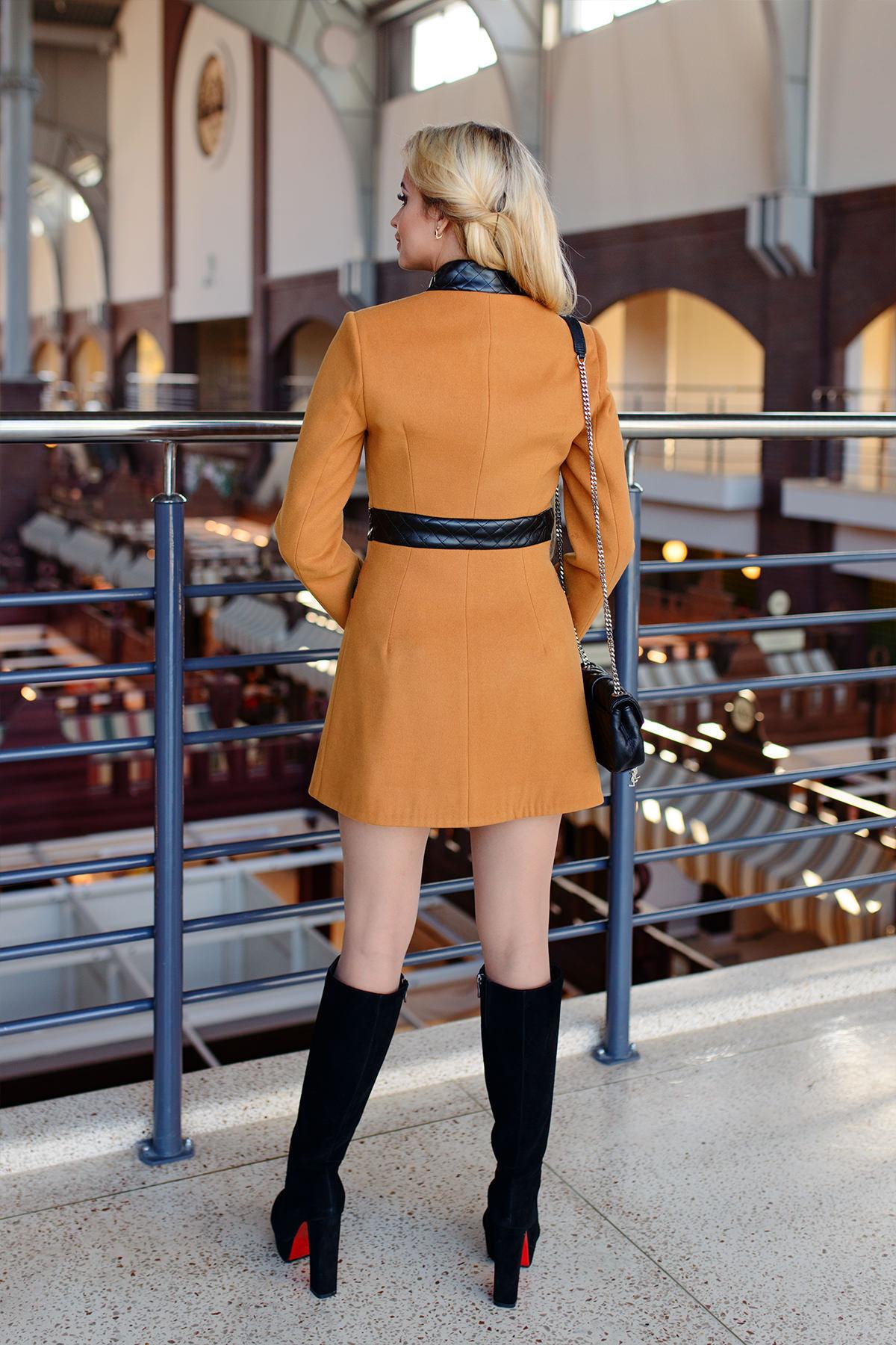 Пальто Фрея 4896 Цвет:  Горчица H 60