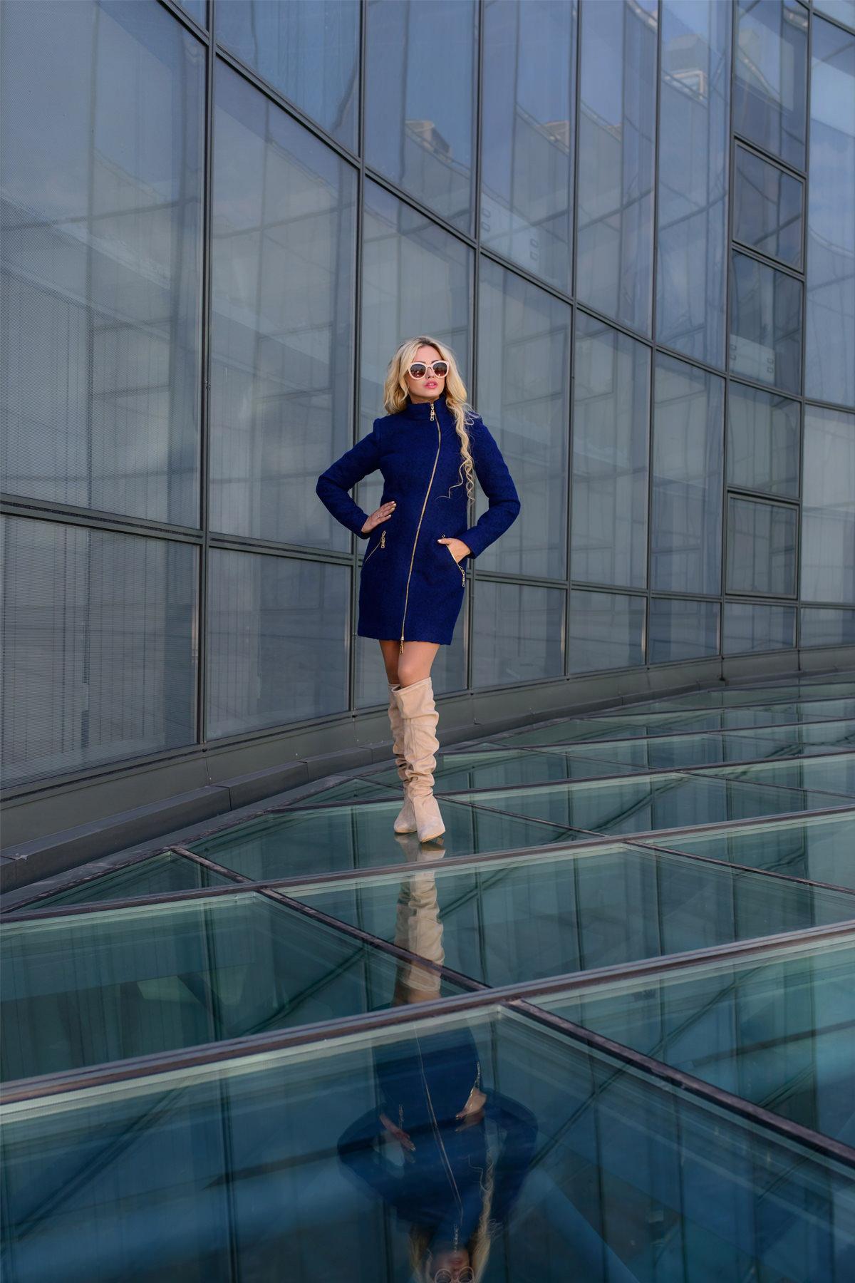 Купить оптом женское пальто у производителя Пальто Тиват 0439