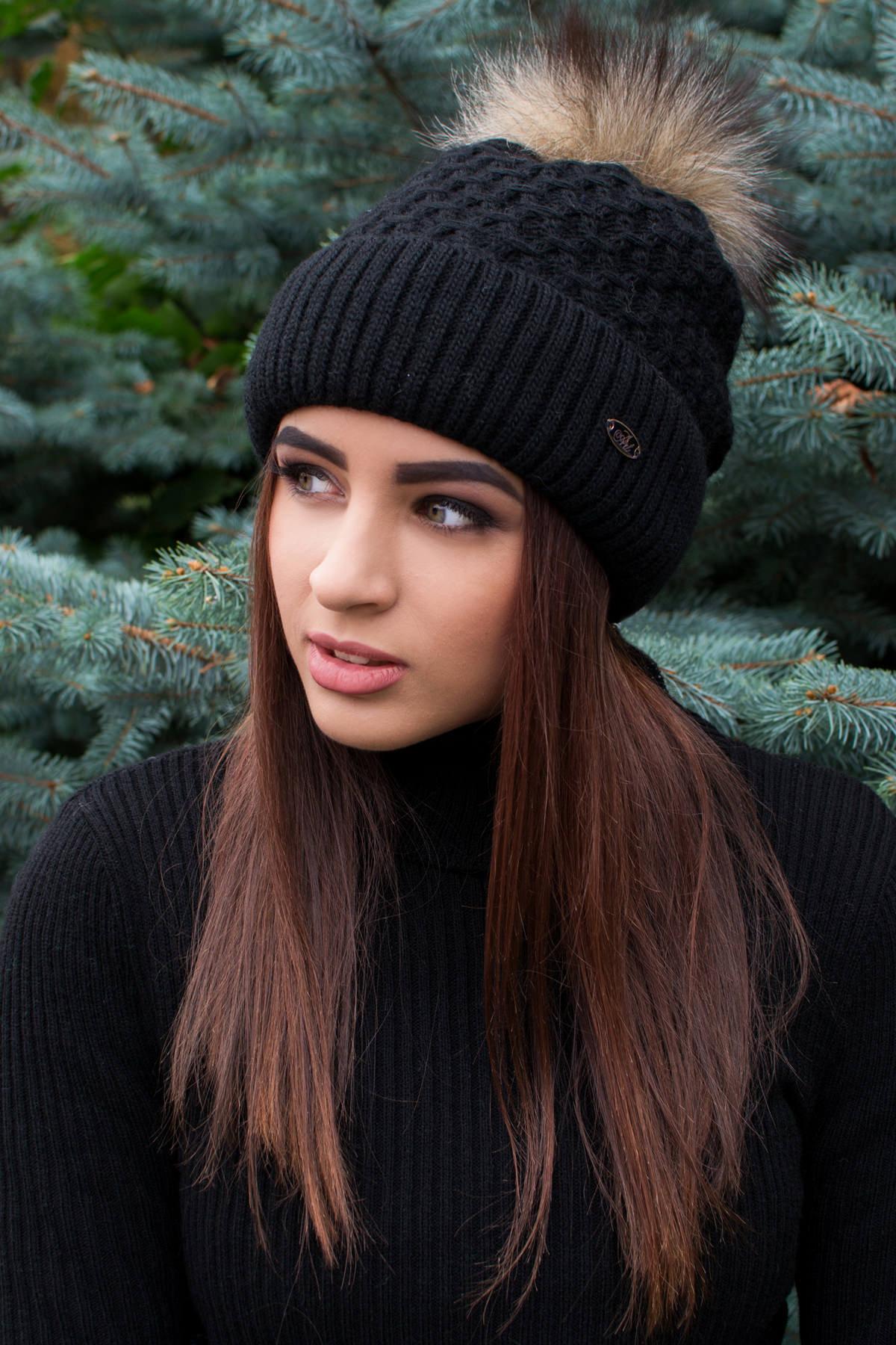 женская шапка оптом Шапка Лина с бубоном