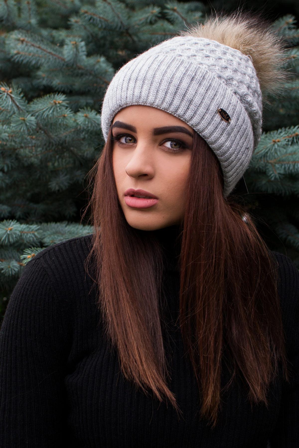 женская шапка от производителя Шапка Лина с бубоном