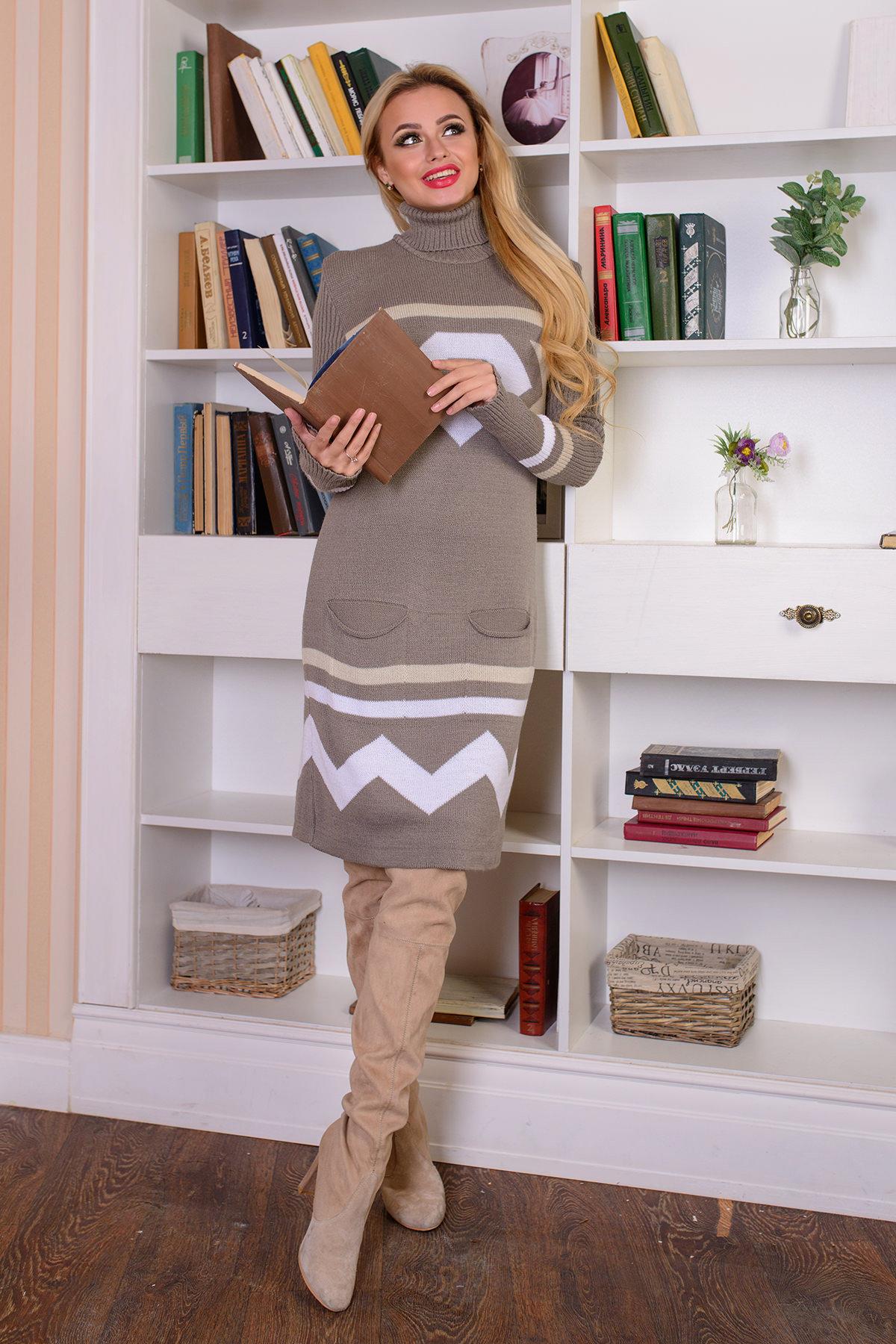купить вязаную одежду оптом Платье Диамант