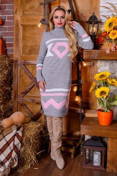 Платье Диамант Цвет: Серый/розовый
