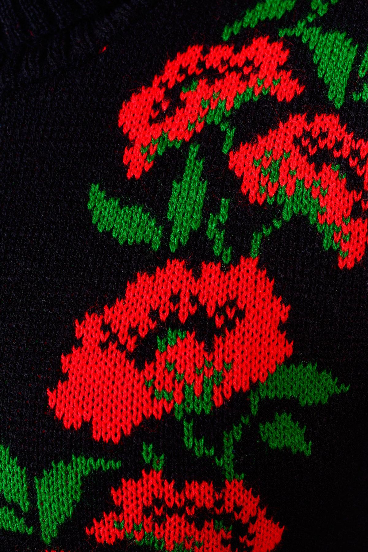 Платье Маки АРТ. 7594 Цвет: Черный/красный/зеленый - фото 4, интернет магазин tm-modus.ru