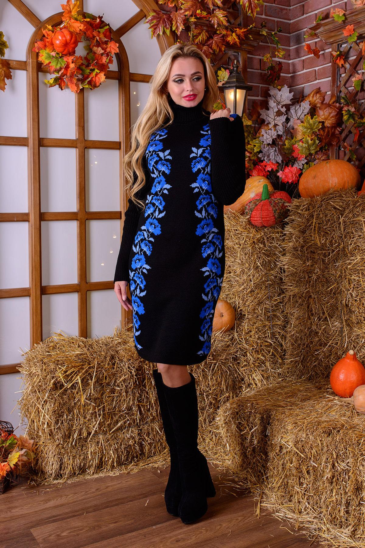 купить вязаные платья оптом Платье Маки