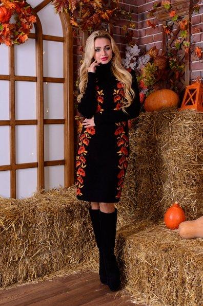 Платье Маки Цвет: Черный/терракот/горчица
