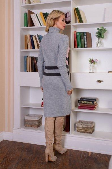 Платье Катерина Цвет: Серый/розовый