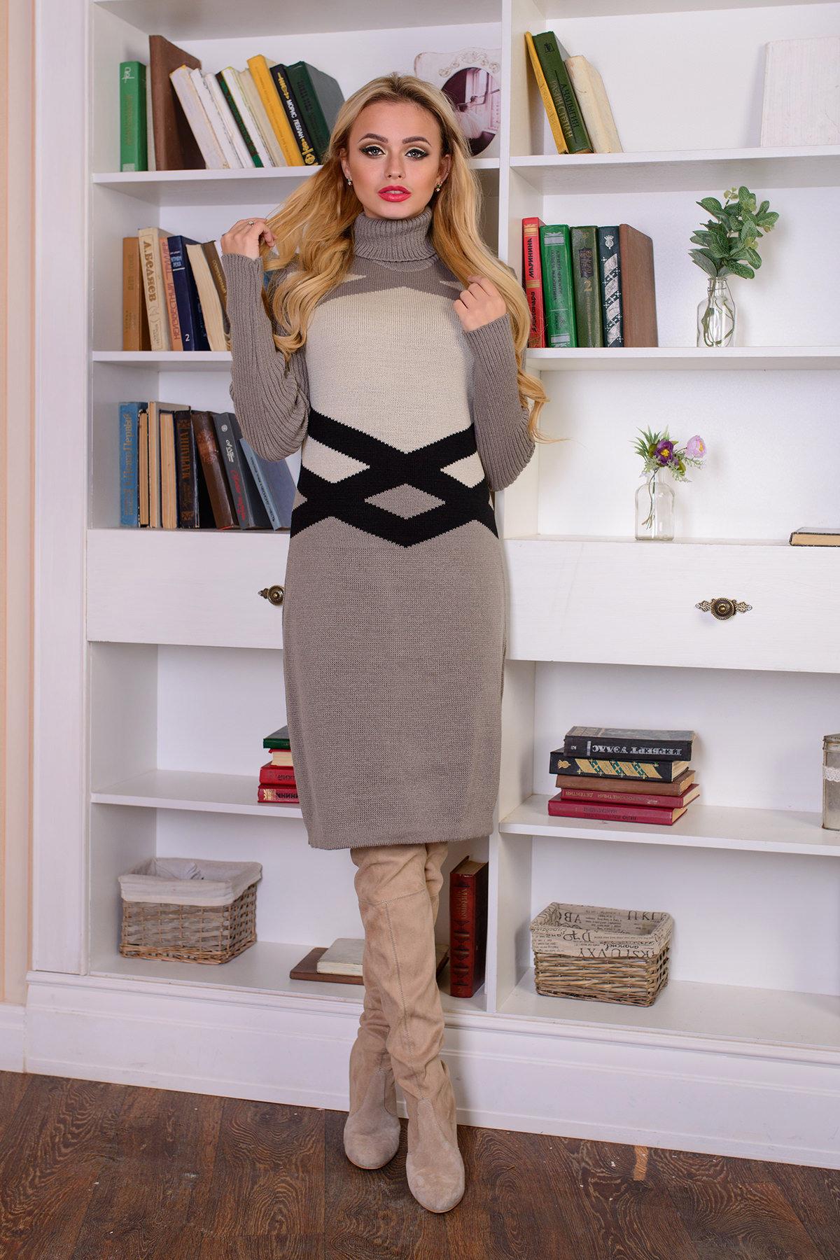 купить вязаную одежду оптом Платье Катерина