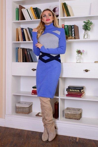 Платье Катерина Цвет: Лаванда/серый