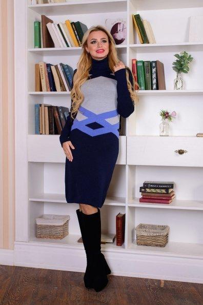 Платье Катерина Цвет: Тёмно-синий/серый