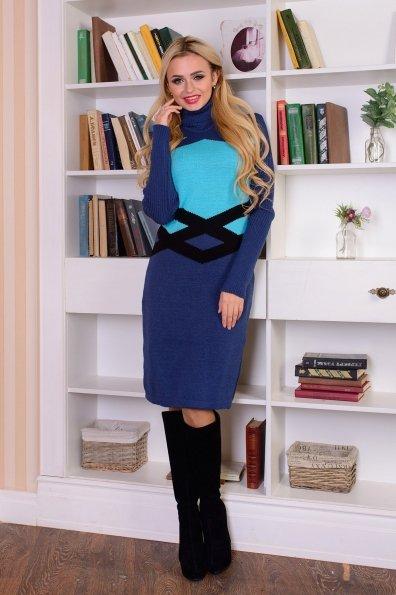 Платье Катерина Цвет: Джинс/мята