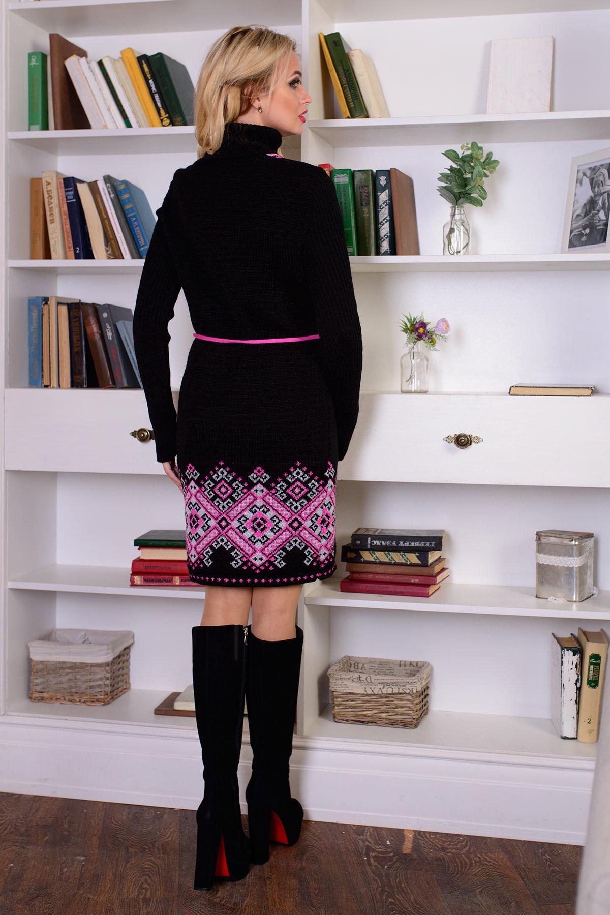 Платье Иванка АРТ. 7605 Цвет: Черный/малина/белый - фото 3, интернет магазин tm-modus.ru