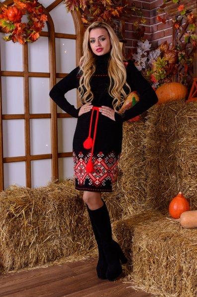 Платье Иванка Цвет: Черный/красный/белый