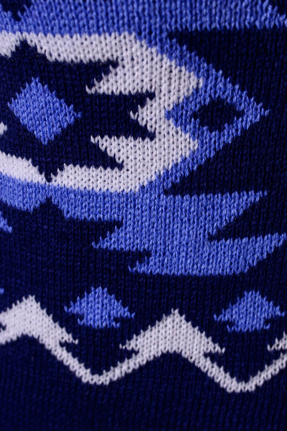 Свитер Стрелки Цвет: Тёмно-синий/голубой/белый