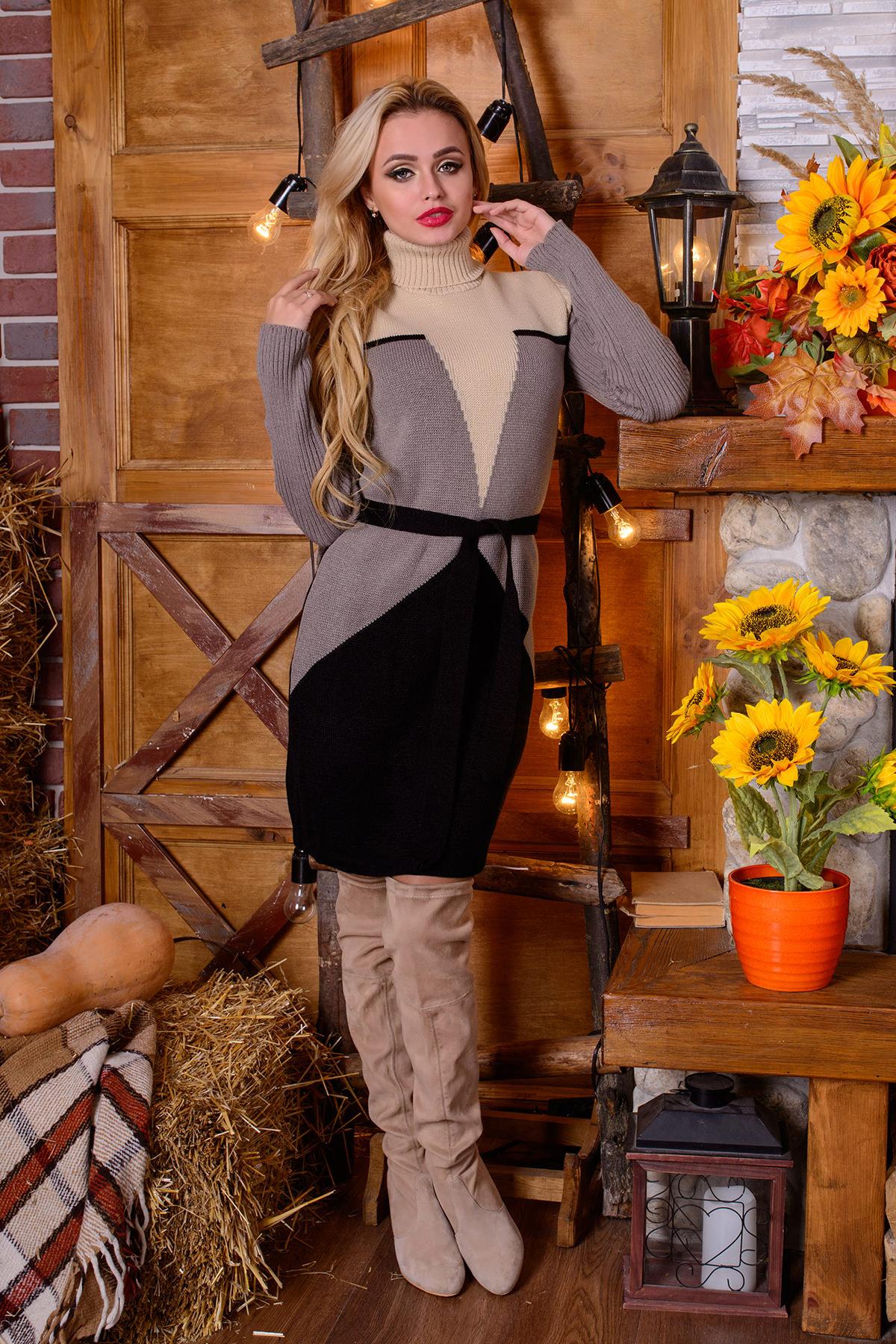купить вязаное платье Платье Корсет