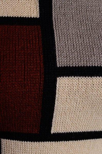Платье Кубики Цвет: Черный/коричневый/бежевый/капучино