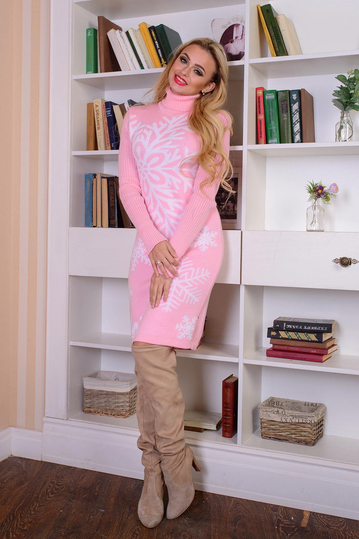 вязаные платья недорого Платье Снежинка