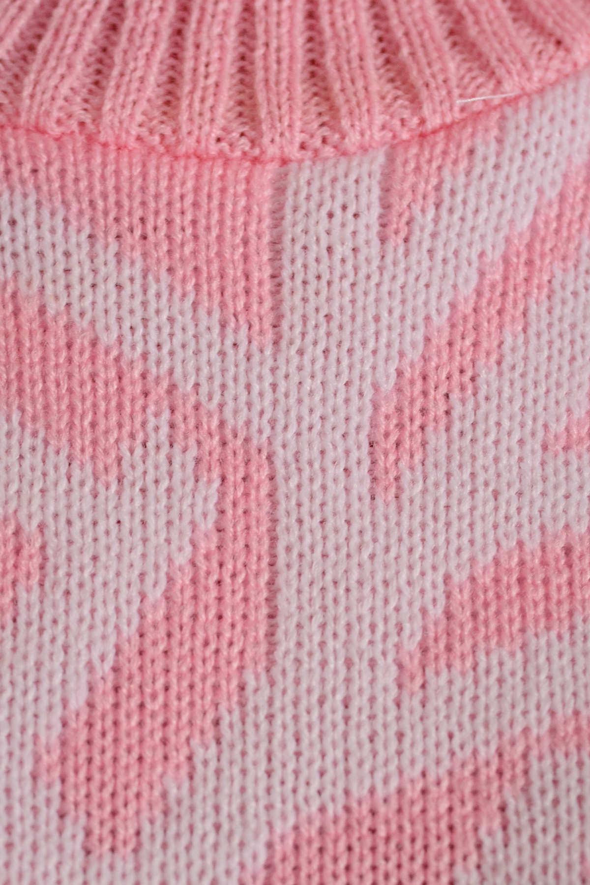 Платье Снежинка  АРТ. 7583 Цвет: Светло-розовый/белый - фото 4, интернет магазин tm-modus.ru