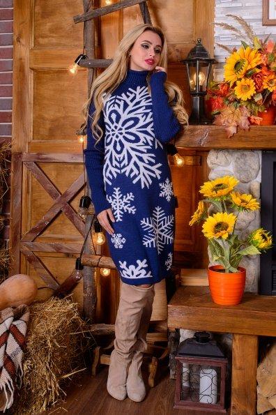 Платье Снежинка  Цвет: Джинс/белый