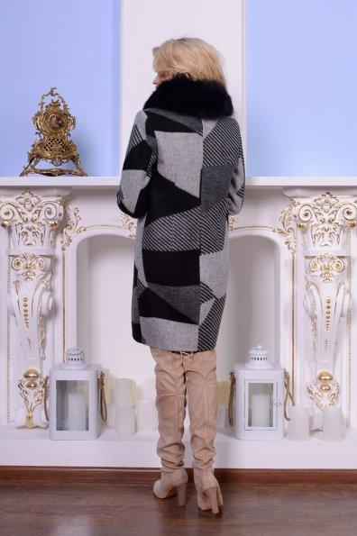 Пальто Микадо 0567 Цвет: Черный/серый Буквы Д5/С1