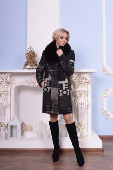 """Купить Пальто """"Марис шерсть принт песец зима""""  оптом и в розницу"""