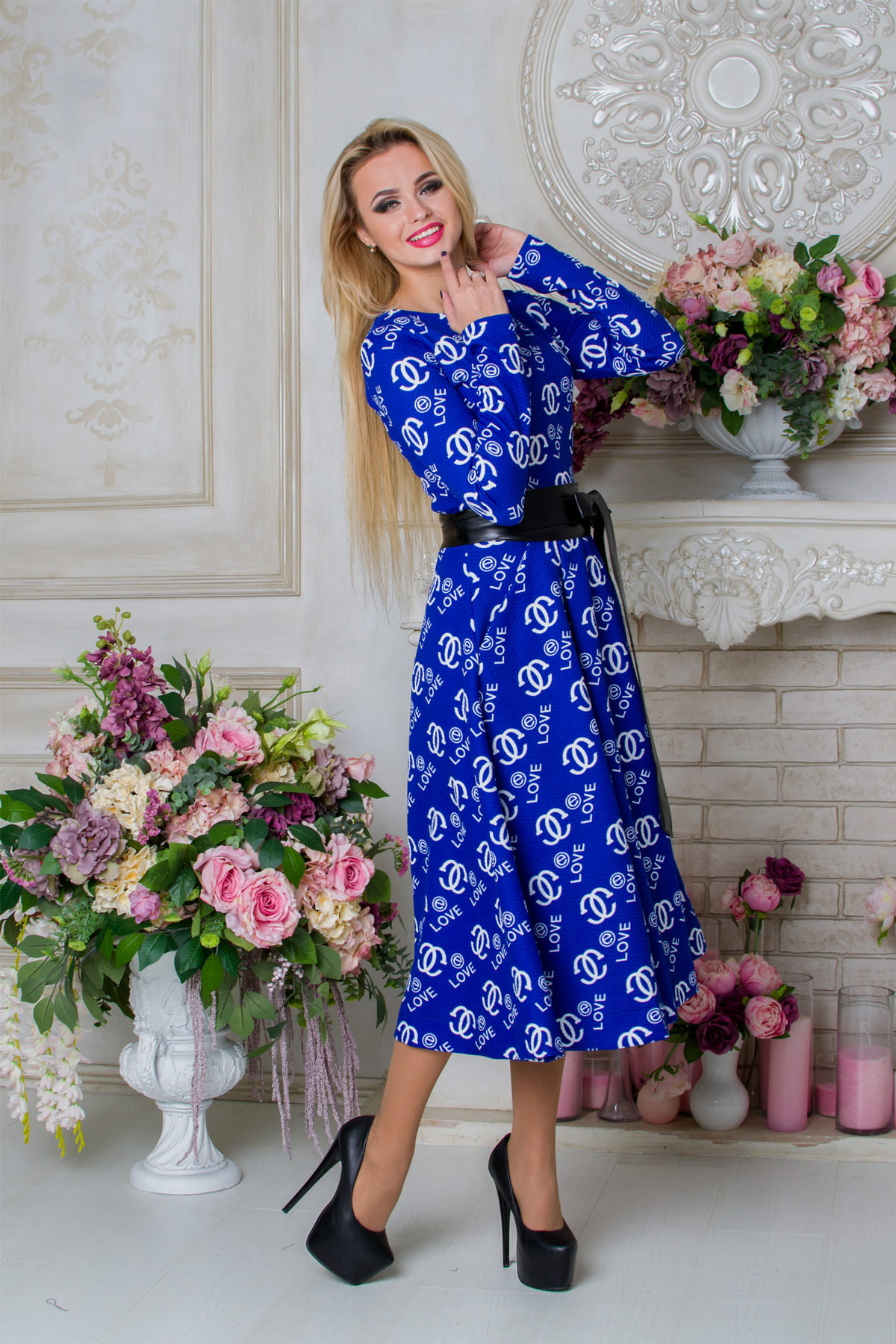 Платье Карен лайт 4938 Цвет: Электрик Love