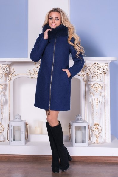 """Купить Пальто """"Сан-Ремо лайт букле крупное песец зима"""" оптом и в розницу"""