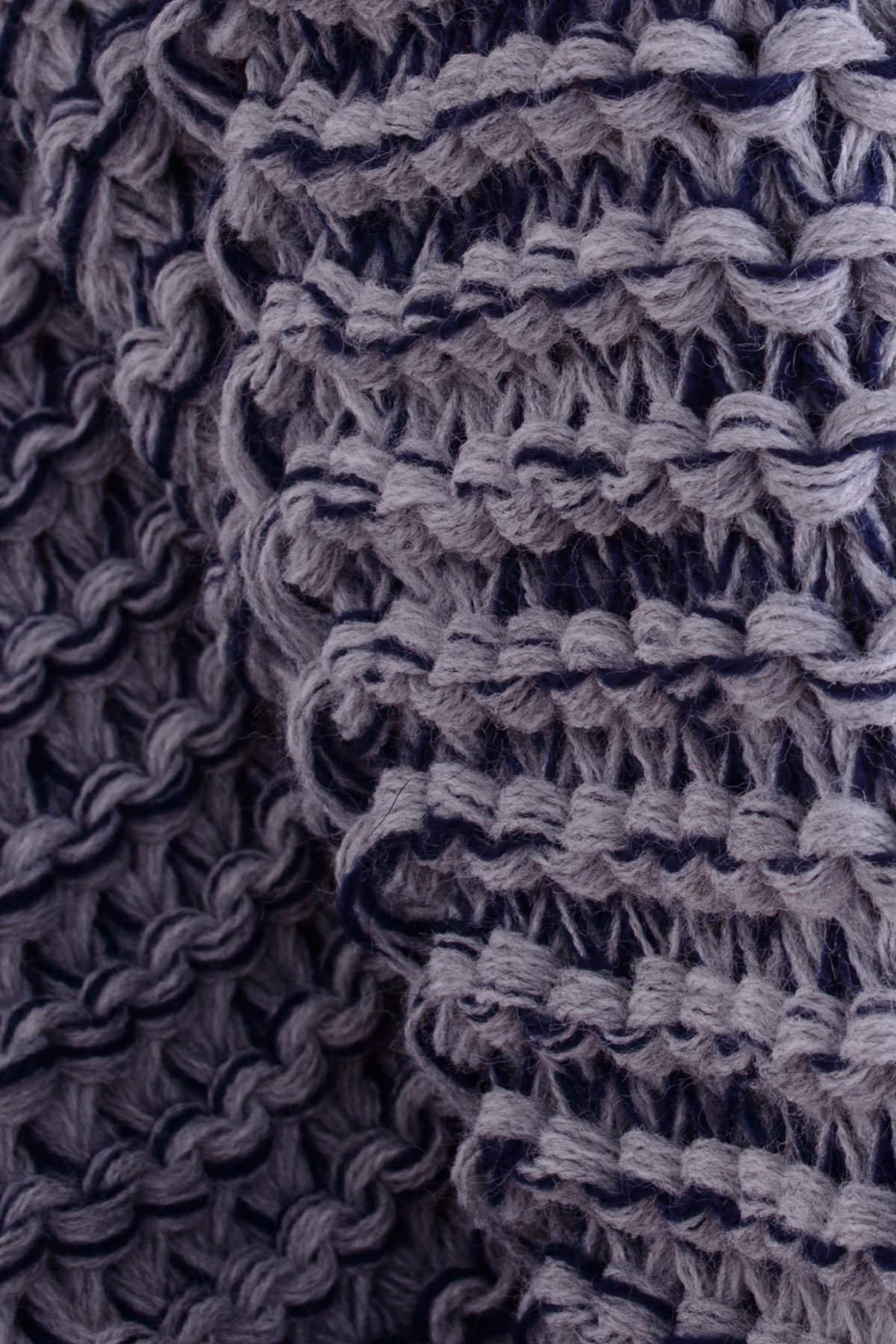 Шарф-хомут крупной вязки
