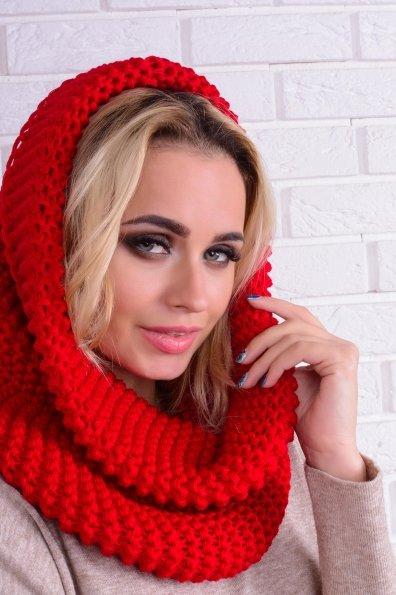 Шарф-хомут крупной вязки Цвет: Красный