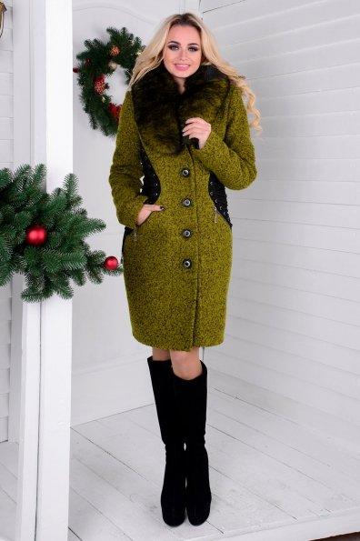 """Купить Пальто """"Силуэт букле крупное песец зима"""" оптом и в розницу"""