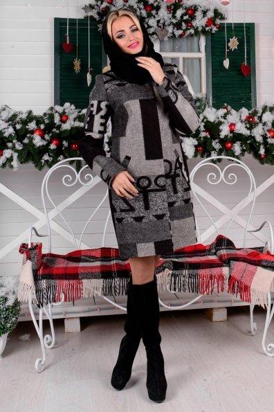 """Купить Пальто """"Фортуна лайт шерсть принт хомут зима"""" оптом и в розницу"""