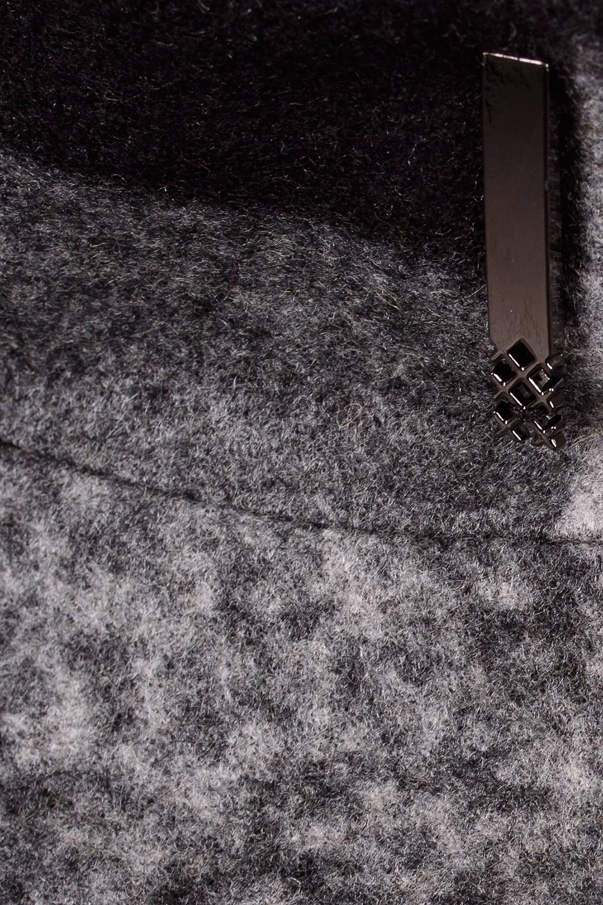 Пальто зима Фортуна 0877 АРТ. 8061 Цвет: Черный/серый буквы Д5/С1 - фото 5, интернет магазин tm-modus.ru