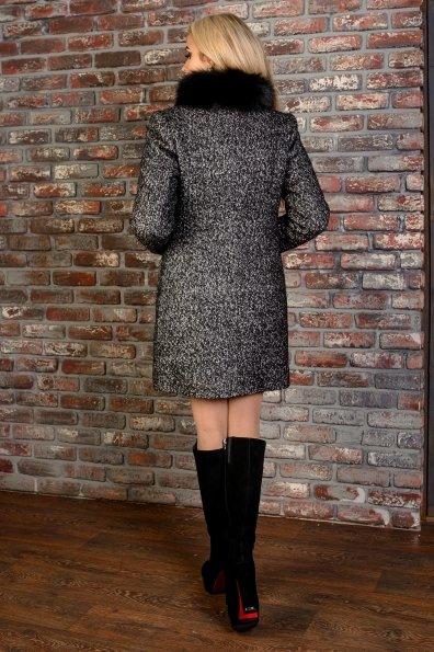 Пальто зима Мелини 0678 Цвет: Черный / серый 6