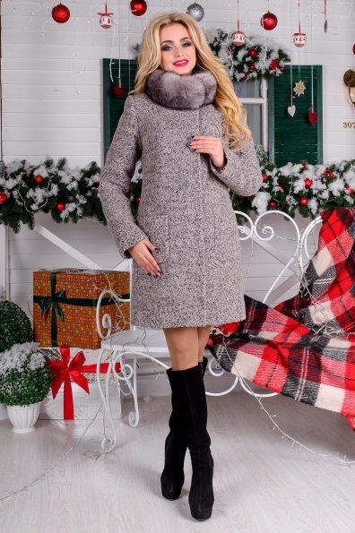 """Купить Пальто """"Мелини букле крупное песец зима"""" оптом и в розницу"""