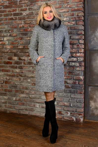 """Купить Пальто """"Сплит букле крупное зима песец"""" оптом и в розницу"""