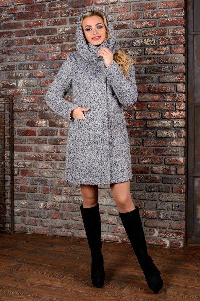 """Купить Пальто """"Мелини букле крупное зима хомут"""" оптом и в розницу"""