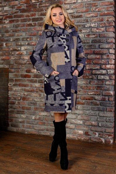 """Купить Пальто """"Делфи шерсть принт зима б/м"""" оптом и в розницу"""