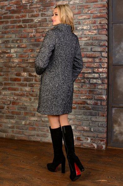Пальто зима Фортуна 0575 Цвет: Черный 5 гранит меланж