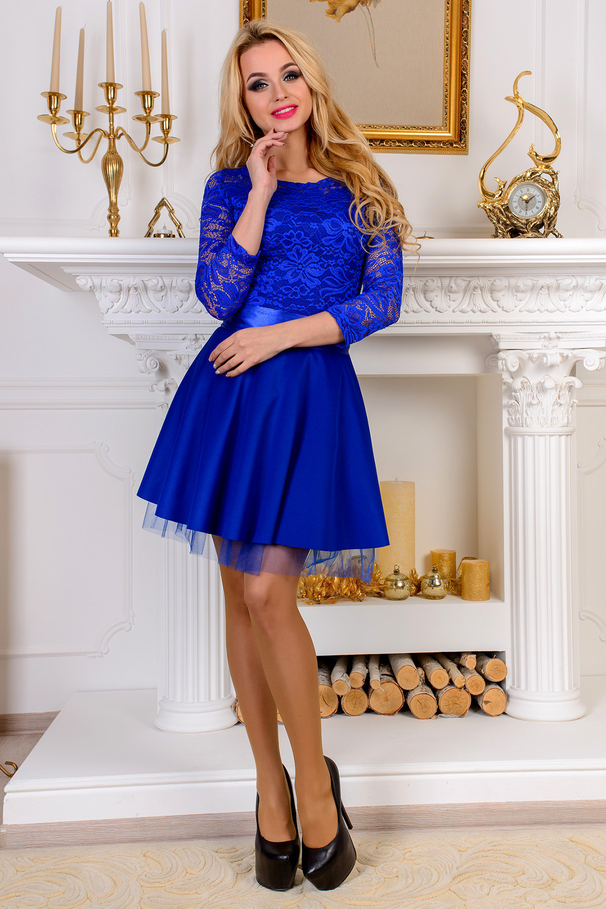 Купить платья цвет электрик